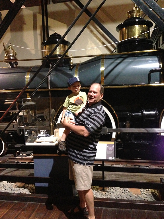 Train museum with Papa.