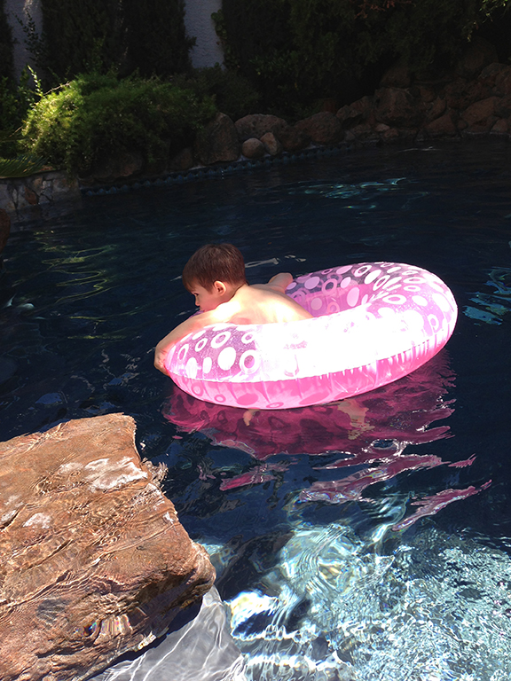 Swimmer Blaise.